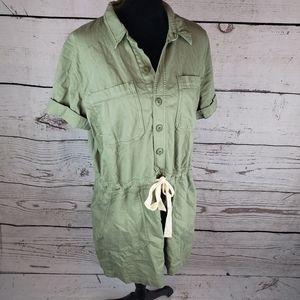 Lucky Brand Shirt Dress Military Button Up Tunic